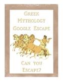 Greek Mythology Escape Activity