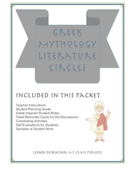 Greek Mythology Literature Circles