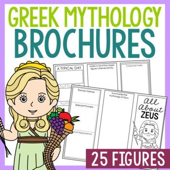 Greek Mythology Research Brochure Templates, Mini Book, In