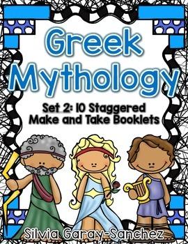 Greek Mythology Set 2 Staggered Booklets