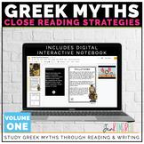 Greek Mythology Unit: Using Close Reading to Dig Deeper