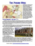 Greek & Persian Wars Reading, Worksheet, and Comic Project