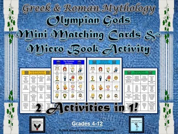 Greek & Roman Mythology Caricature Matching & Micro Books