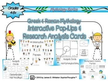 Greek & Roman Mythology Interactive Pop-Ups and Research A