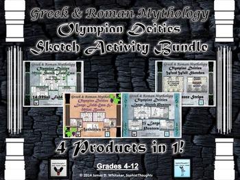 Greek & Roman Mythology Sketch Activity Mega Bundle