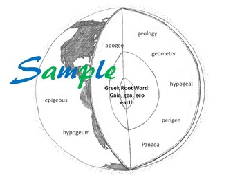 Greek Root Word Earth (Geo) worksheet