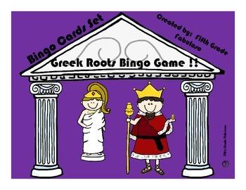 Greek Roots Bingo Bonanza