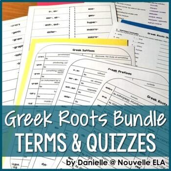 Greek Roots Terms & Quiz Bundle