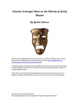 Greek Theater Internet Scavenger Hunt
