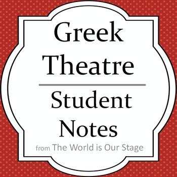 Greek Theatre Drama History Student Notes