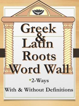 Greek and Latin Root Word Wall Sampler