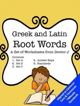 Greek and Latin Root Words and Affixes Common Core TN Read