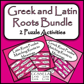 Greek and Latin Roots Bundle - 2 Activities - Puzzles