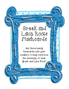 Greek & Latin Roots Flashcards for 16 Roots (Use with Pref