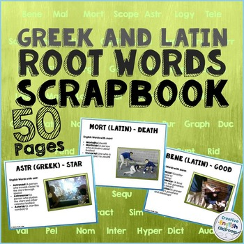 Greek and Latin Roots Scrapbook with Examples and Definitions