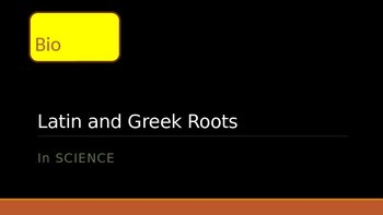 Greek and Latin Roots Stations: Words with BIO