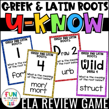 Greek and Latin Roots Game for Literacy Centers: Vocabulary