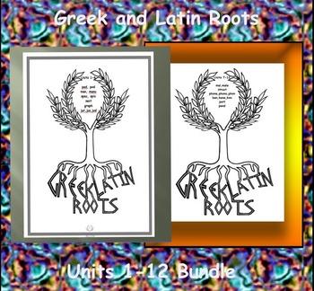 Greek and Latin Roots Units 1-12 Bundle