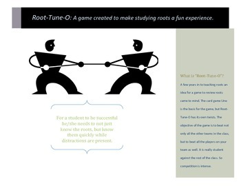 Greek and Latin Roots Review Game! ROOT-TUNE-O!