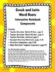 Greek and Latin Word Roots Interactive Notebook Components