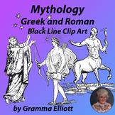 Clip Art  Greek and Roman Mythology - Black Line - Realist