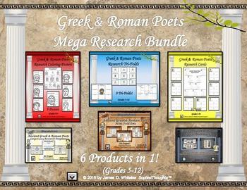 Greek and Roman Poets Research Activities Bundle