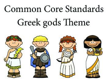 Greekgods Kindergarten English Common core standards posters