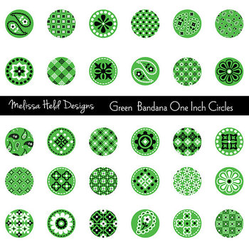 Green Bandana Circles