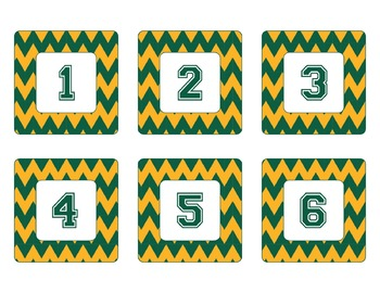 Green Bay Packers Inspired Green and Yellow Chevron Calend