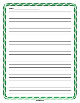 Green Candy Cane Lined Paper