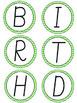 Green Chevron Birthday Board