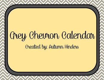 Grey and Yellow Chevron Calendar
