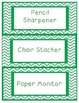 Green Chevron Job Chart