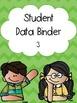 Green Chevron Numbered Student Data Binders 1-30
