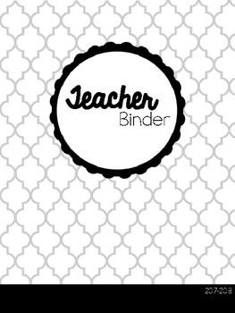 Green Chevron Teacher Binder