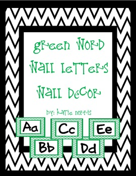 {Green Chevron} Word Wall Letters Wall Decor