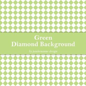 Green Diamond Background