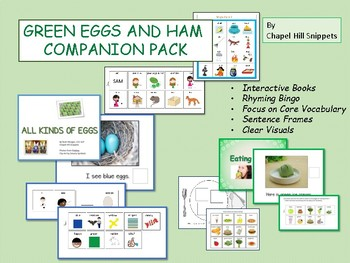 Green Eggs and Ham Companion Pack--Speech and Special Education