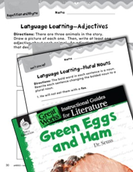 Green Eggs and Ham Language Learning Activities