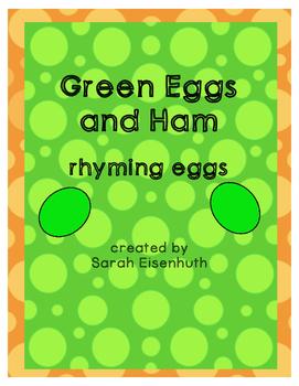 Green Eggs and Ham Rhyming Eggs FREEBIE