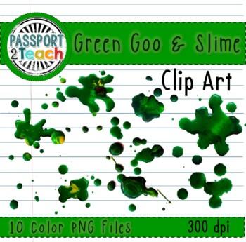 Green Gooey Slime Clip Art for Commercial Use