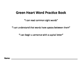 Nellie Edge Green Heart Word Practice Book