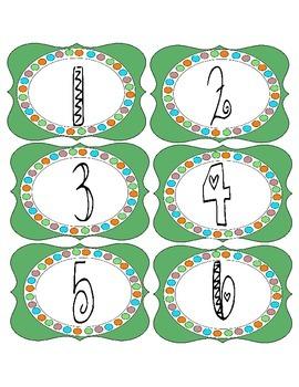 Green Label Numbered Set