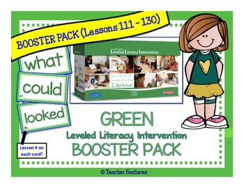 Green Leveled BOOSTER Literacy Intervention Kit (LLI)