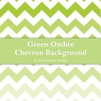 Green Ombre Chevron Background