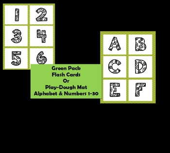 Green Pack - ABCs and Number 1-30