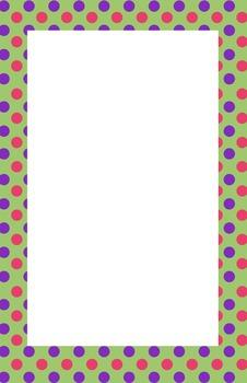 Green, Pink, and Purple Polka dot Border
