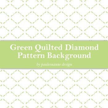 Green Quilted Diamond Pattern Background