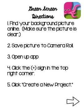 Green Screen Directions using DoInk