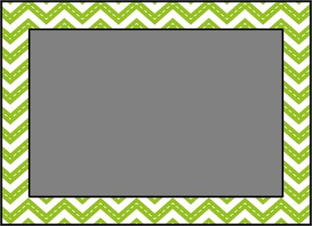 Cards and Labels: Green Chevron Eighths